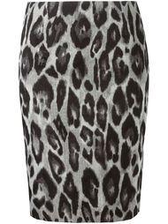 юбка с леопардовым принтом   Lanvin
