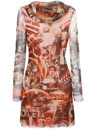 платье с принтом сцен из фильмов Jean Paul Gaultier Vintage