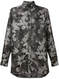рубашка свободного кроя с цветочным узором Ami Alexandre Mattiussi
