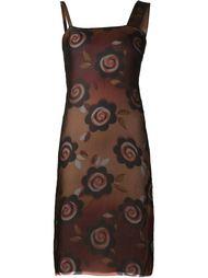 прозрачное платье с цветочным принтом Maison Margiela