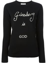 джемпер `Ginsberg is God` Bella Freud