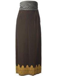 юбка в мелкую полоску  Jean Paul Gaultier Vintage