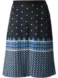 вязаная жаккардовая юбка  Lanvin Vintage