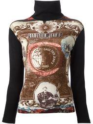 свитер с принтом-коллажем  Jean Paul Gaultier Vintage