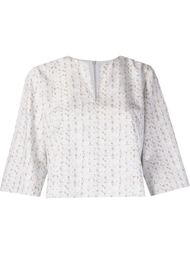 woven print cropped blouse Andrea Marques