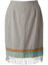 юбка с бахромой Jean Louis Scherrer Vintage