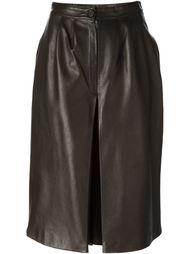 юбка со встречной складкой  Céline Vintage