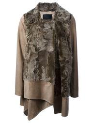 пальто с меховой вставкой  'Galliana' Liska