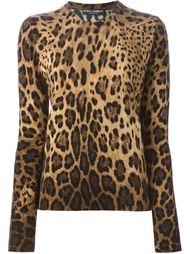 свитер с леопардовым принтом    Dolce & Gabbana