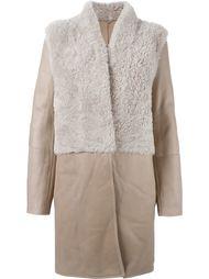 пальто с контрастными панелями Liska