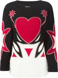 свитер с аппликацией в виде сердца Moschino Vintage