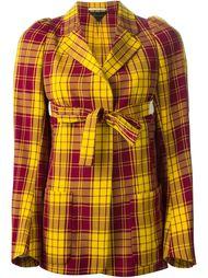 пиджак в шотландскую клетку с запахом Comme Des Garçons Vintage