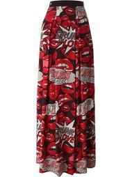 длинная юбка с принтом 'Flying' Philipp Plein