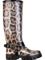 резиновые сапоги с леопардовым принтом Dolce & Gabbana