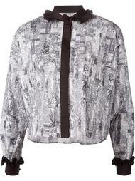 рубашка с контрастными оборками Comeforbreakfast