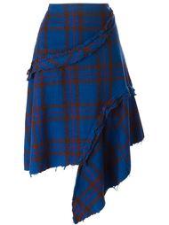 асимметричная юбка в клетку Comme Des Garçons Vintage