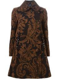 двубортное пальто с цветочным узором  Simone Rocha