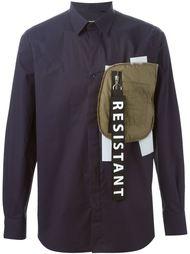 рубашка с контрастным карманом  Matthew Miller