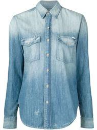 джинсовая рубашка с нагрудными карманами Mother