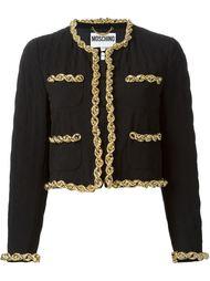 куртка с цепочной отделкой Moschino