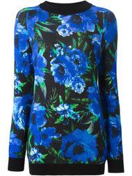свитер с цветочным принтом Balmain