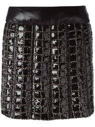 юбка в клетку с пайетками Chanel Vintage