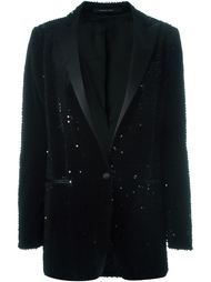 пиджак-смокинг с пайетками  Tagliatore