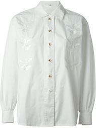 рубашка с вышивкой  Escada Vintage