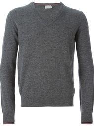 свитер с V-образным вырезом Moncler