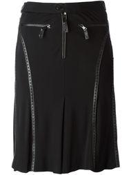 юбка с кожаными деталями  Jean Paul Gaultier Vintage