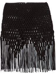 плетеная юбка с бахромой по подолу Comme Des Garçons Noir Kei Ninomiya