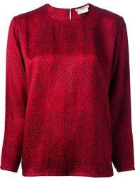 блузка с графическим принтом Yves Saint Laurent Vintage