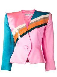 пиджак с панелью из пайеток Yves Saint Laurent Vintage