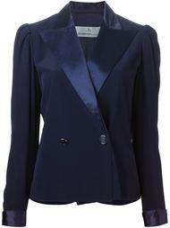 пиджак с атласными лацканами Jean Louis Scherrer Vintage