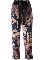 брюки с лиственным принтом Lanvin