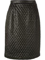 стёганая юбка Céline Vintage