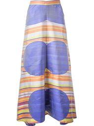 юбка с геометрическим принтом Chanel Vintage