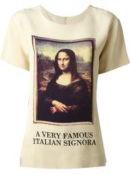 футболка 'Mona Lisa' Moschino Vintage