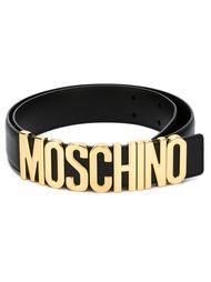ремень с пряжкой в виде логотипа Moschino