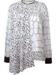 асимметричная блузка с принтом Issa