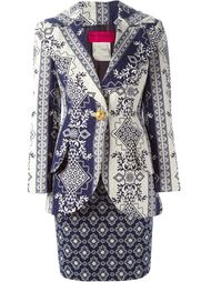 пиджак с юбкой в принт  Christian Lacroix Vintage