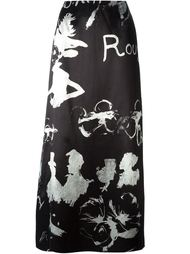 юбка с принтом 'Olive Oyl'  Moschino Vintage