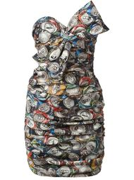 коктейльное платье с принтом Moschino