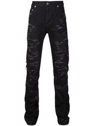 джинсы кроя скинни с потертой отделкой Christian Dada