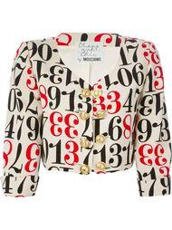 укороченный пиджак с принтом цифр Moschino Vintage