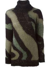 свитер с узором P.A.R.O.S.H.