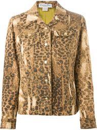 джинсовая куртка в леопардовый принт  Christian Dior Vintage