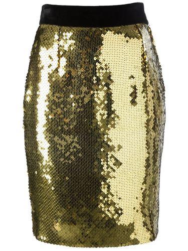 юбка-карандаш с пайетками Moschino Vintage