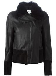 куртка с шерстяным воротником Ann Demeulemeester Blanche