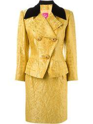 юбочный костюм с цветочным узором Christian Lacroix Vintage